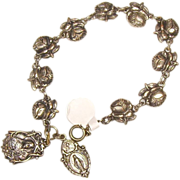 Catholic Rose Religious Medal Bracelet