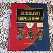 SALE Collector's Guide to British Army Campaign Medals Hardcover Price Guide