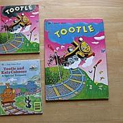 "SALE Golden Book ""Tootle"" Children Book Set"