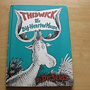 SALE Vintage Dr. Suess Thidwick The Big-Hearted Moose Book Club Edition