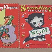 SALE Florence Sarah Winship Linen Children Book Set
