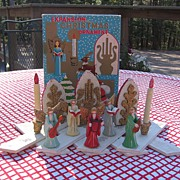 SALE Rare Christmas Angel Wooden Expansion Decoration With box