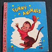 """SALE 1949 """"Funny Animals"""" Lolly Pop Mini Books"""