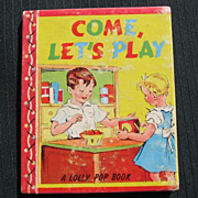 "SALE Hard to Find 1943 ""Come Let's Play"" Mini Lolly Pop Book"
