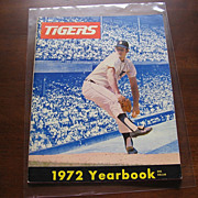 1972 Detroit Tigers Baseball Yearbook