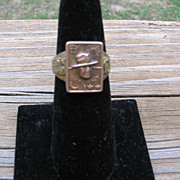 SALE Rare 1938 Dick Tracy Good Luck Secret Compartment Ring