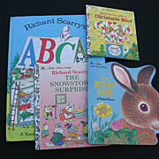 SALE Richard Scarry Vintage Children Book Set