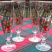 SALE 1960's Libbey Pirate Tumblers Set of Eight
