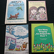 SALE Children 1970's Weekly Reader Picture Book Set Of Four
