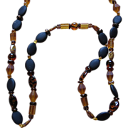 SALE Vintage Signed Wendy Gell Beaded Necklace