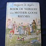 """SALE 1954 First Edition Marquerite De Angeli's """"Book Of Nursery and Mother Goose Rhymes"""""""