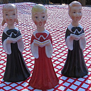 SALE 1950's Japan Porcelain Choir Salt and Pepper Shakers