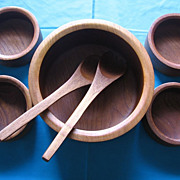 SALE Goodwood Teak Salad Bowl Set