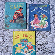 1950's Two In One Wonder Book Set Of Three Books