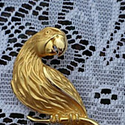 SOLD Large Jonette Jewelry Parrot Pin