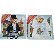 SALE Peck-Gandre Steiff Bears Bride and Groom Paper Doll Set