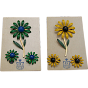 SALE DuBarry Enamel Flower Pin Set