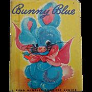 "SALE Hard To Find ""Bunny Blue"" Rand McNally Junior Elf Children Book"