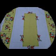 SALE Colorful Linen Tablecloth