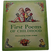 "1967 First Edition Tasha Tubor ""First Poems Of Childhood"""