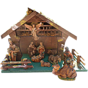 SALE Italy Nativity Set With Manger