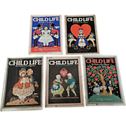 SALE 1930's Child Life February Valentine Magazine Set Of Five