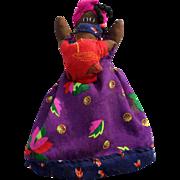 SALE Handmade Black Americana Topsy Turvy Doll