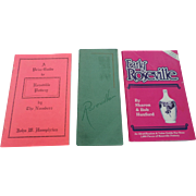SALE 1931 Roseville Catalogoe With Price Guides Set
