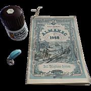 SALE Bell Telephone Almanac Pepper Mill Telephone Key Set