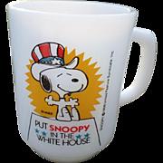 "SALE ""Put Snoopy In The White House"" Fireking Glass Mug"
