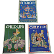 1930's September Child Life Magazine Set of Three