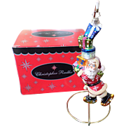 SALE Retired Christopher Radko Santa Ornament