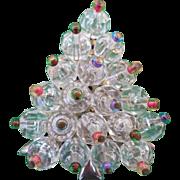 SOLD Beaded Pin Christmas Tree Pin