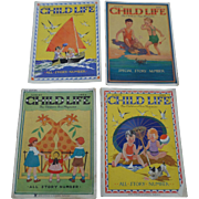 SALE 1930's August Child Life Set of Four