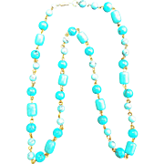 SALE Howlite Turquoise Necklace