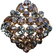 SALE Julianna Amber Rhinestone Pin