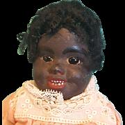 "Unusual Papier Mache Ethnic Doll, 12"" Tall"