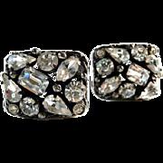 KRAMER signed rhinestone earrings