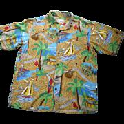 Reyn Spooner Jimmy Buffet Margaritaville Hawaiian Shirt S