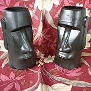 SALE OMC Maori Easter Island Vintage Tiki Mug Black