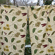 SOLD Pair Tropical Plants Vines Leaves Drapes Lined
