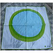 SOLD Set of 4 Vera Neumann Blue Pond Branches Print Napkins