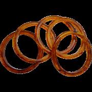 Bakelite Rootbeer Applejuice Spacer Stacker Set of 5 Bangles
