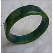 SALE Deeply Fabulous Blue Moon Bakelite Bangle Bracelet