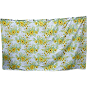 SALE Large Vera Neumann White Daisies Yellow Black-eyed Susans Print Tablecloth