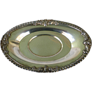 Ornate Oval Silver Plate Serving Platter Marked