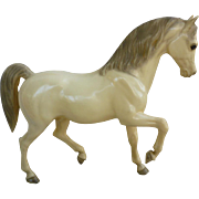 Vintage Alabaster Family Arabian Stallion Breyer Horse Mold # 7