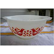 Pyrex Friendship Pattern 1 1/2 Pint Cinderella Mixing Bowl 441