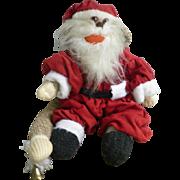 Vintage Hand Made Rockford Red Heel Sock Monkey Santa Claus