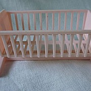 SALE Swinging Pink Cradle Ideal 3/4 Scale Dollhouse Furniture